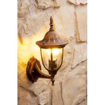 Außenwandleuchte Ribadeo Braun, Gold, 1-flammig