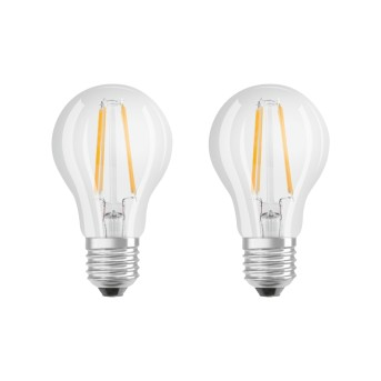 Osram LED 2er Pack E27 6 Watt 2700 Kelvin 806 Lumen