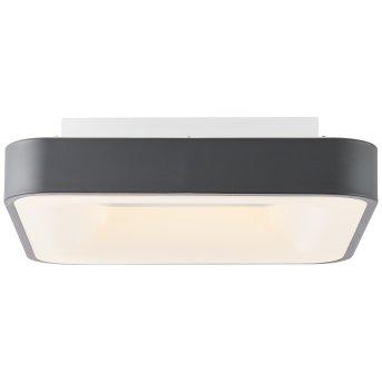 Brilliant Saria Wand- und Deckenleuchte LED Grau, 1-flammig, Fernbedienung