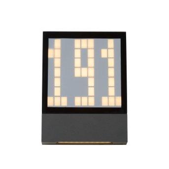 Lucide DIGIT Wandleuchte LED Anthrazit, 1-flammig