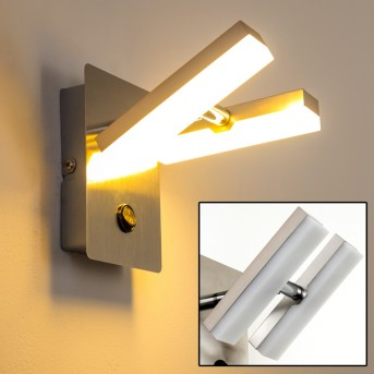 Sakami Wandleuchte LED Nickel-Matt, 2-flammig