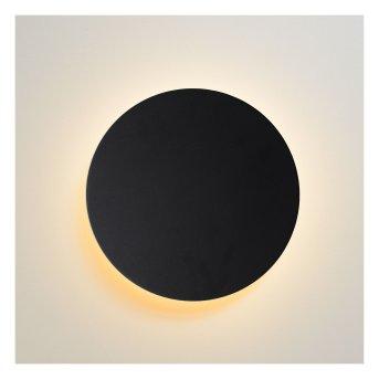 Lucide EKLYPS Wandleuchte LED Schwarz, 1-flammig