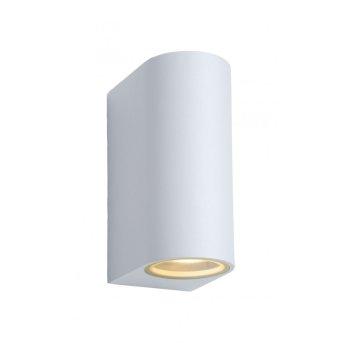 Lucide ZORA Wandleuchte LED Weiß, 2-flammig