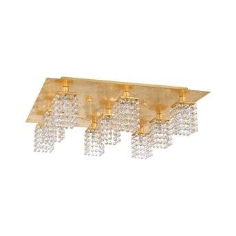 Eglo PYTON GOLD Deckenleuchte Gold, Kristalloptik, 9-flammig