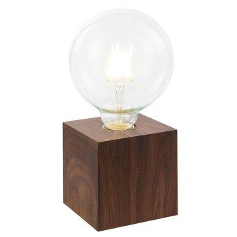 Nino Leuchten LEONIE Tischleuchte Holz dunkel, 1-flammig