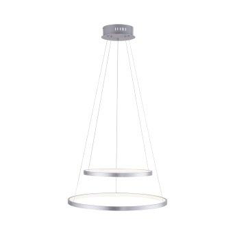 Leuchten Direkt Ls-CIRCLE Pendelleuchte LED Edelstahl, 1-flammig, Fernbedienung, Farbwechsler