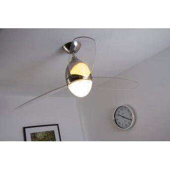 Globo PREMIER Ventilator Nickel-Matt, Edelstahl, 2-flammig