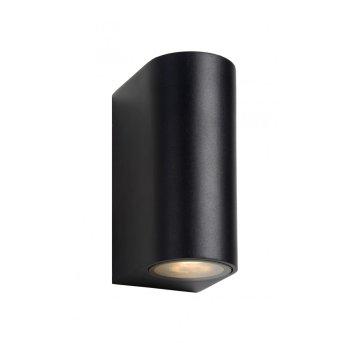 Lucide ZORA Wandleuchte LED Schwarz, 2-flammig