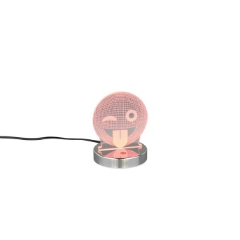 Reality SMILEY Tischleuchte LED Chrom, 1-flammig, Farbwechsler