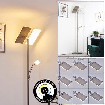 Cazis Stehleuchte LED Nickel-Matt, 3-flammig