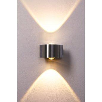 Stream Wandleuchte LED Edelstahl, 2-flammig