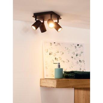 Lucide LENNERT Deckenspot LED Schwarz, 4-flammig