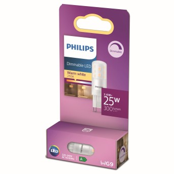 Philips LED G9 2,6 Watt 2700 Kelvin 300 Lumen