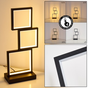 Bacolod Tischleuchte LED Schwarz, 1-flammig