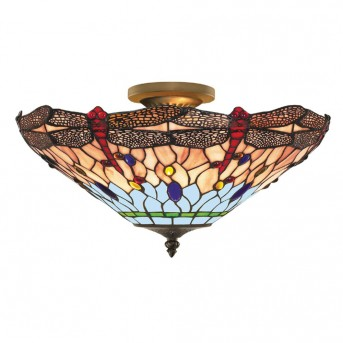 Searchlight DRAGONFLY Deckenleuchte Messing, 3-flammig