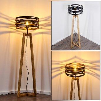 Gauley Stehleuchte LED Schwarz, Braun, 1-flammig