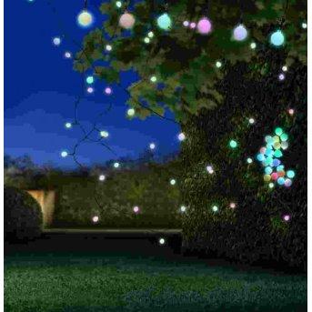 Globo NIRVANA Lichterkette LED Schwarz, 25-flammig, Farbwechsler