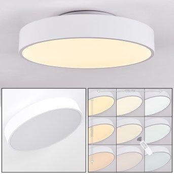 Plovdiv Deckenleuchte LED Weiß, 1-flammig, Fernbedienung