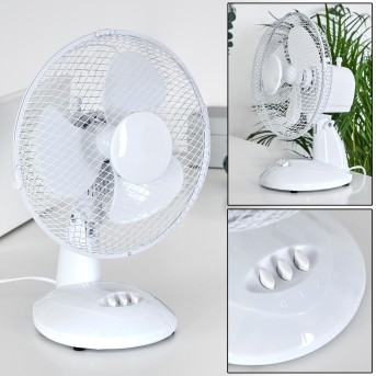 Sopot Ventilator Chrom, Weiß