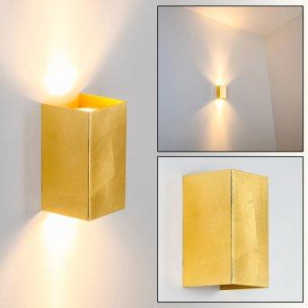 Matera Wandleuchte Gold, 2-flammig