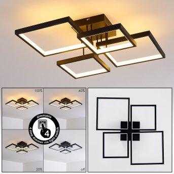Bacolod Deckenleuchte LED Schwarz, 1-flammig