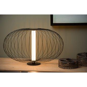 Lucide CARBONY Tischlampe LED Schwarz, 1-flammig