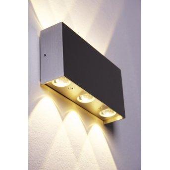 Stream Wandleuchte LED Aluminium, 6-flammig