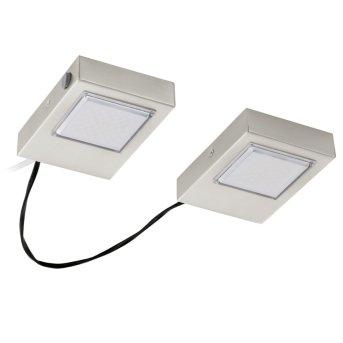 Eglo LAVAIO Kücheneinbauleuchte LED Nickel-Matt, 2-flammig