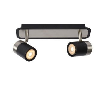 Lucide LENNERT Deckenleuchte LED Schwarz, 2-flammig