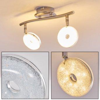 Deckenleuchte Donot LED Nickel-Matt, 2-flammig