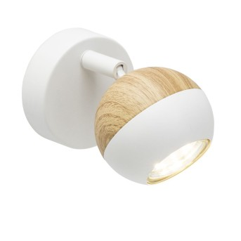 Brilliant Scan Wandleuchte LED Weiß, Holz hell, 1-flammig
