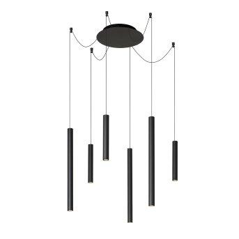 Lucide LORENZ Pendelleuchte LED Schwarz, 6-flammig