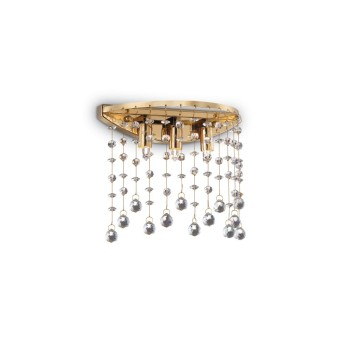 Ideal Lux MOONLIGHT Wandleuchte Kristalloptik, Champagner, 3-flammig
