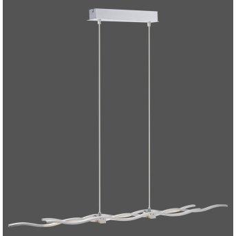 Leuchten Direkt LOLA-WAVE Pendelleuchte LED Edelstahl, 2-flammig, Fernbedienung, Farbwechsler