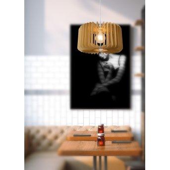 Lucide ETTA Pendelleuchten Holz dunkel, 1-flammig