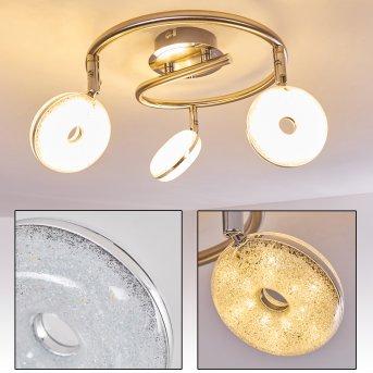 Deckenleuchte Donot LED Nickel-Matt, 3-flammig