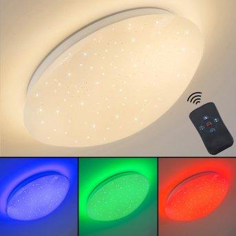 Quebec Deckenleuchte LED Weiß, 1-flammig, Fernbedienung, Farbwechsler