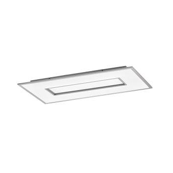 Fischer & Honsel function Tiara Deckenleuchte LED Silber, 1-flammig, Fernbedienung