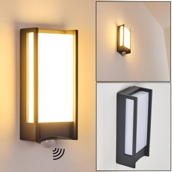 Skove Außenwandleuchte LED Anthrazit, 1-flammig, Bewegungsmelder