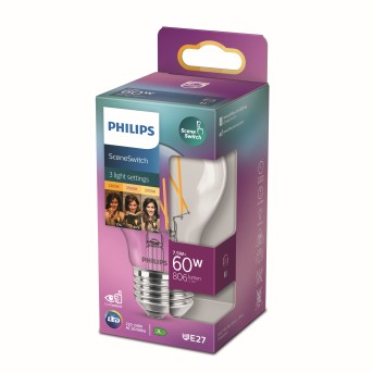 Philips LED E27 7,5 Watt 2200 bis 2700 Kelvin 150 bis 806 Lumen
