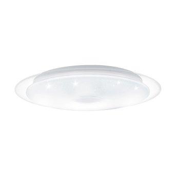 EGLO LANCIANO Deckenleuchte LED Weiß, Transparent, Klar, 1-flammig, Fernbedienung
