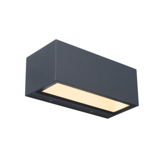 Lutec GEMINI Aussenwandleuchte LED Anthrazit, 2-flammig