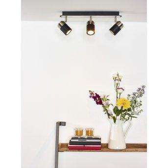 Lucide LENNERT Deckenleuchte LED Schwarz, 3-flammig
