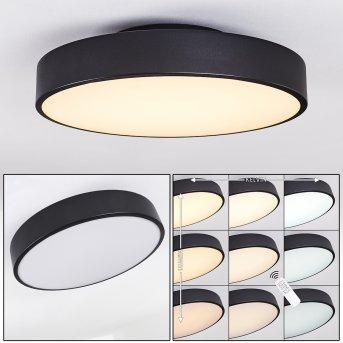Plovdiv Deckenleuchte LED Schwarz, 1-flammig, Fernbedienung