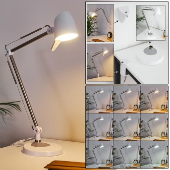 Mildura Tischleuchte LED Weiß, 1-flammig