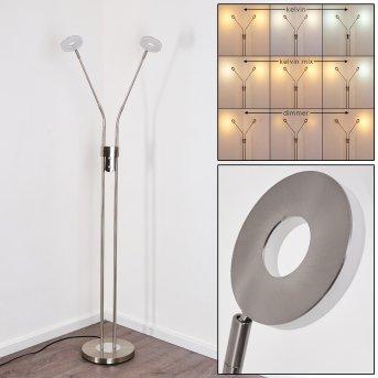 Gulkana Stehleuchte LED Nickel-Matt, 2-flammig