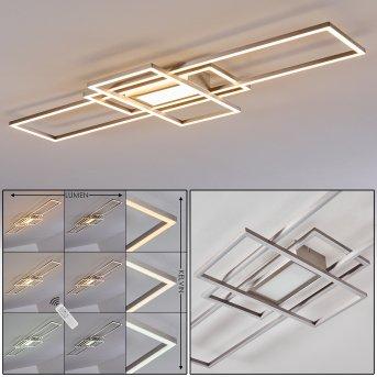 Alsterbro Deckenleuchte LED Nickel-Matt, 1-flammig, Fernbedienung