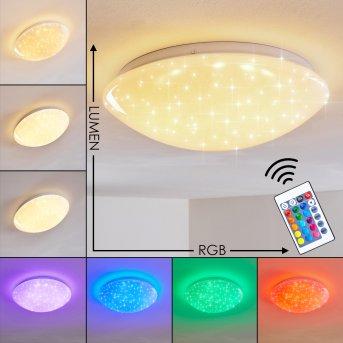 Kendal Deckenleuchte LED Weiß, 1-flammig, Fernbedienung, Farbwechsler