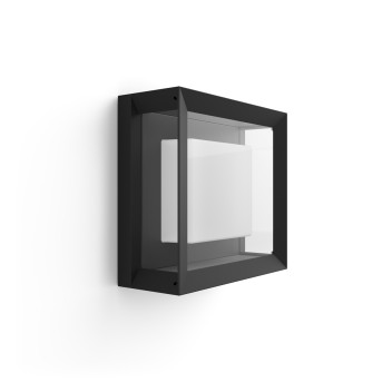 Philips Hue Ambiance White & Color Econic Wandleuchte LED Schwarz, 1-flammig, Farbwechsler