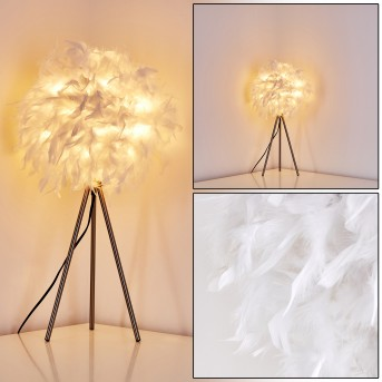 Tischleuchte Skaulo Nickel-Matt, 1-flammig